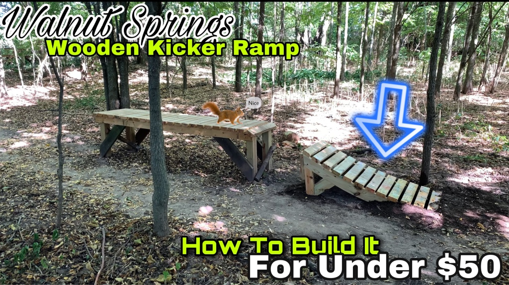 How To Build a Backyard MTB Wooden Kicker Ramp